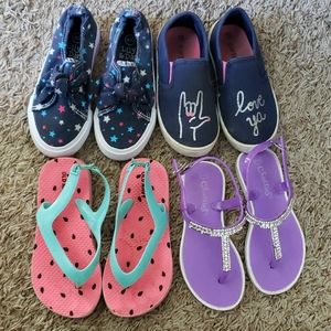 Lot of 4 Pairs of Girls Shoes